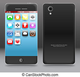 Modern gadget - Modern touchphone gadget vector illustration...