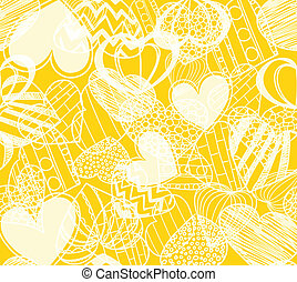 Seamless background of hearts