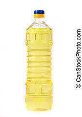 vegetable oil in a plastic bottle