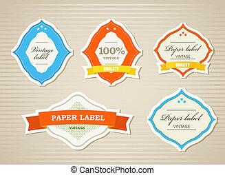 Vintage shopping labels