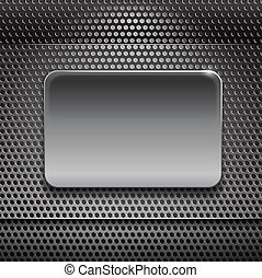 Steel board on metal background ready for your text