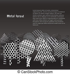 Steel forest background