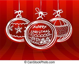 Christmas balls group