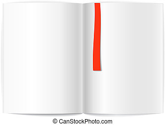 Blank book pages and bookmark