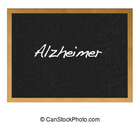 Alzheimer. - Isolated blackboard with alzheimer.