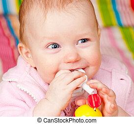嬰儿, 玩具, 牙齒