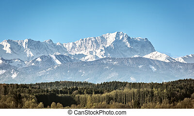 Zugspitze - An image of the Zugspitze in Bavaria Germany