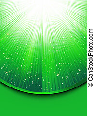 Abstract green background with stars. EPS 8