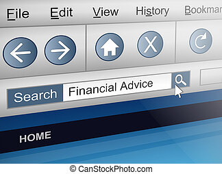 Searching for financial adviser. - Illustration depicting a...