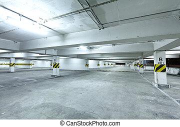 車庫, 停車處