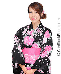 Japanese woman with traditional clothing