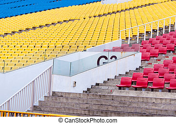 Colourful tribunes
