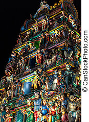Sri Mariamman Temple Singapore - Detail of the Hindu Sri...
