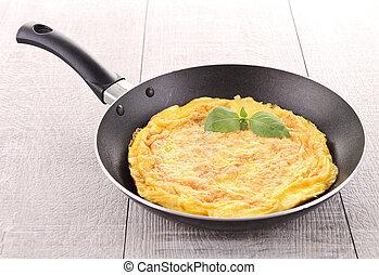 omelette in pan