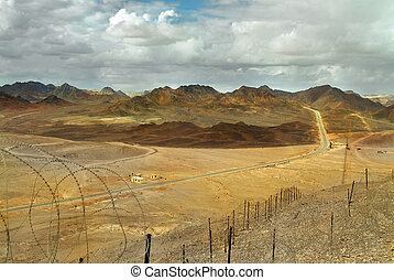 Sinai peninsula. - A view on Sinai peninsula from Israel...