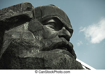 Karl Marx Monument in Chemitz, Saxony, Germany