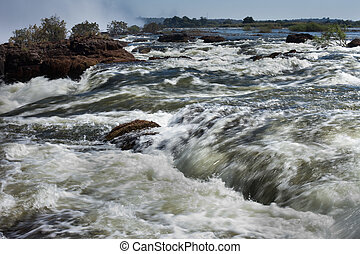 Whitewater rapids at Victoria Falls, Livingstone, Zambia