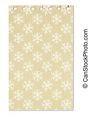Seamless pattern with snowflake on paper from a notebook