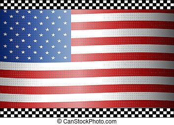 Carbon Fiber Black Background USA