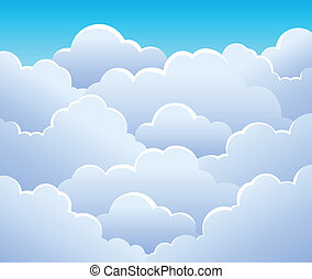 Cloudy sky background 3 - vector illustration.