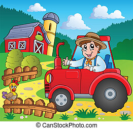 Farm theme image 3 - vector illustration