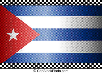Carbon Fiber Black Background Cuba