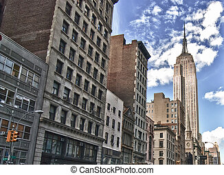 Street View of the Empire State Building, New York City