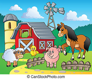 Farm theme image 4 - vector illustration