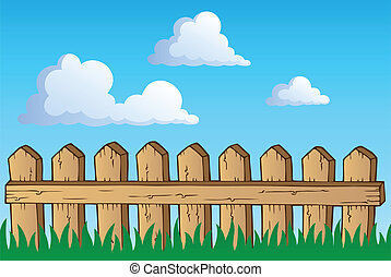 Fence theme image 1 - vector illustration