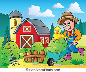 Farm theme image 7 - vector illustration.