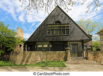 Frank Lloyd Wright Home & Studio in Oak Park, Illinois, USA