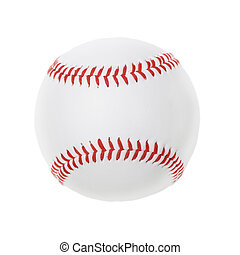Baseball ball isolated on white background