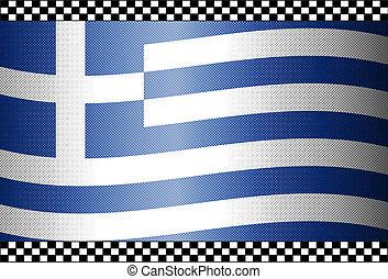 Carbon Fiber Black Background Greek