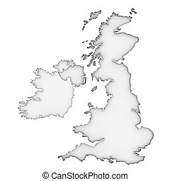 United Kingdom map on a white background Part of a series