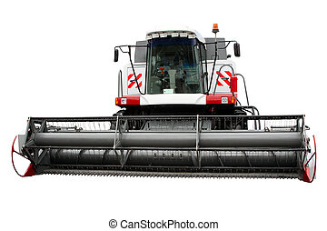 Modern combine separately on a white background