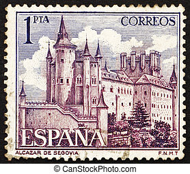 Postage stamp Spain 1964 Alcazar of Segovia, Spain - SPAIN -...