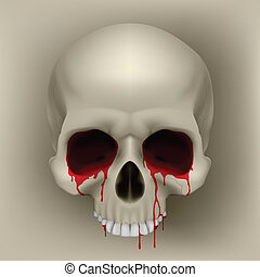 Bleeding Skull - Bleeding Human Skull Cool Illustration for...