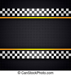 Structured metallic perforated for race sheet template