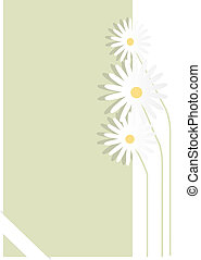 Paper file - the light green file with three camomiles