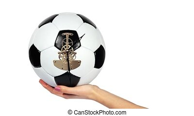 Soccer Ball Clock on the hand