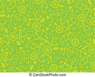 Bicycle parts digital background. Colors easy to change with...