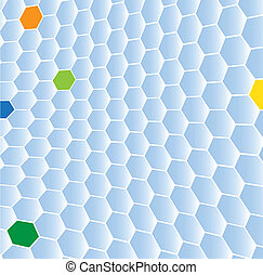 Shaded blue hexagon background