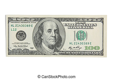 Cash money hundred dollars USD - One hundred dollars on...