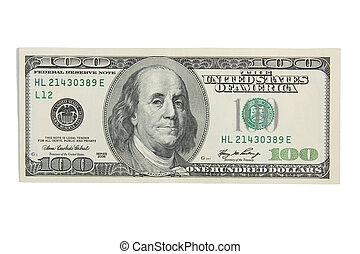 Cash money hundred dollars USD - One hundred dollars on...