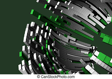 Futuristic powerful background design