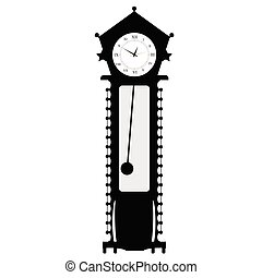 old clock vector illustration of art in black color