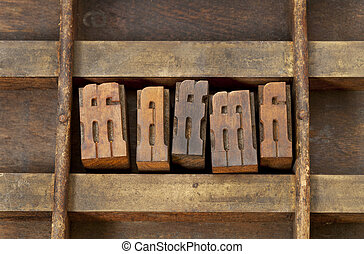 ligature letterpress printing blocks - ligature - vintage...