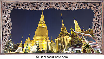 Thai loyal place in night time