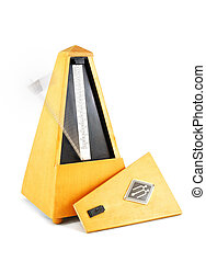 Metronome - Old wood metronome with a moving indicator