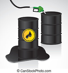 oil and gasoline gallons